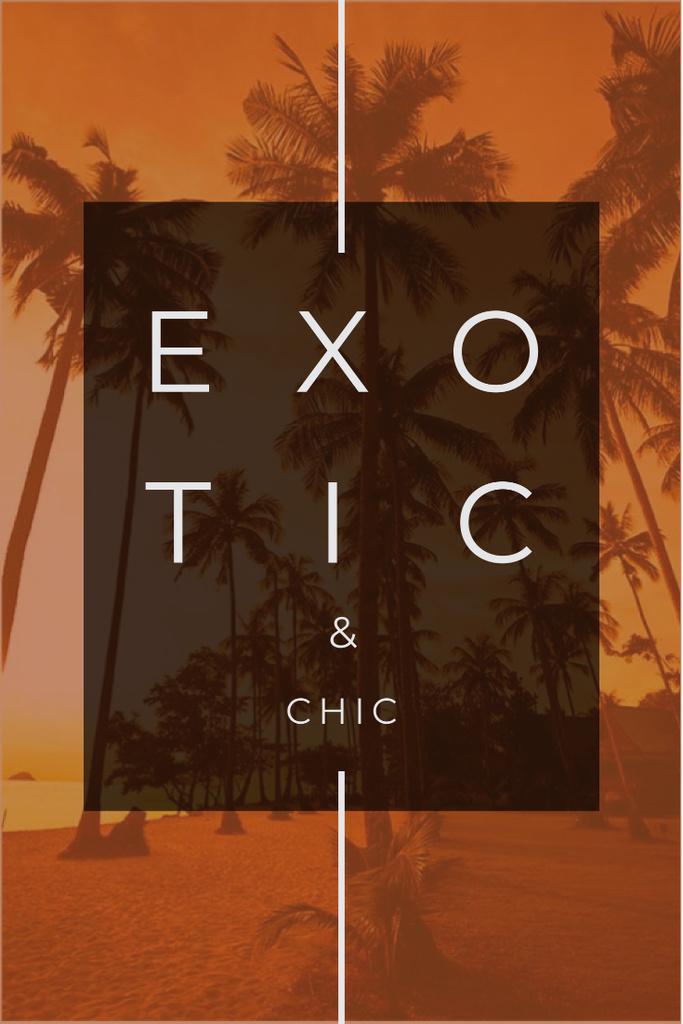 Modèle de visuel Exotic tropical resort Ad with Palms - Pinterest