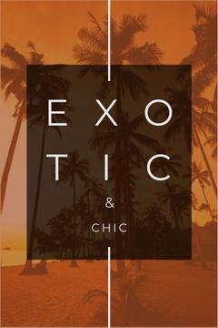 Exotic tropical resort