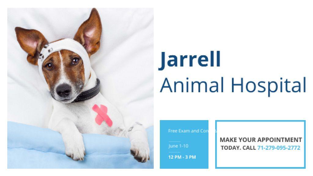 Animal Hospital Ad with Cute injured Dog — Crear un diseño
