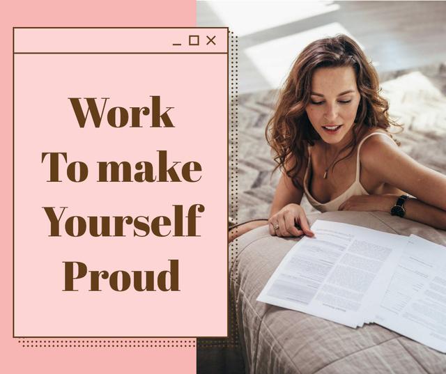 Girl Power Inspiration with Beautiful Woman Facebook Tasarım Şablonu