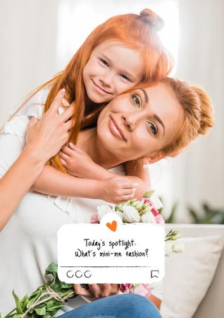 Plantilla de diseño de Happy smiling Mother and Daughter Poster
