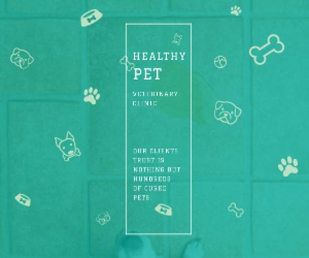 Plantilla de diseño de Healthy pet veterinary clinic Medium Rectangle