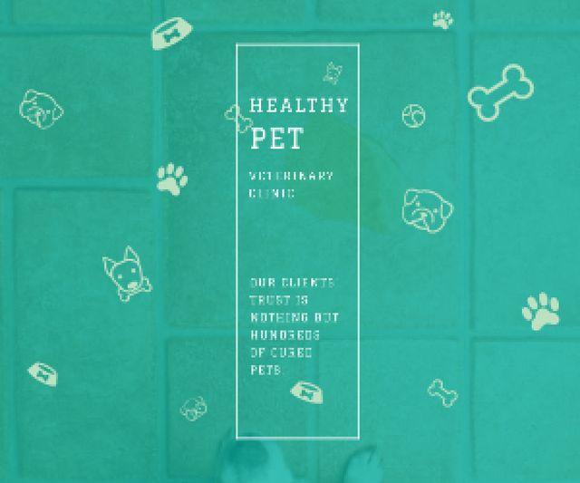 Healthy pet veterinary clinic Medium Rectangle – шаблон для дизайну