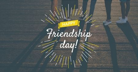 Friendship Day Greeting Young People Together Facebook AD – шаблон для дизайна