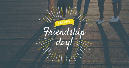 Friendship Day Greeting Young People Together Facebook AD Design Template