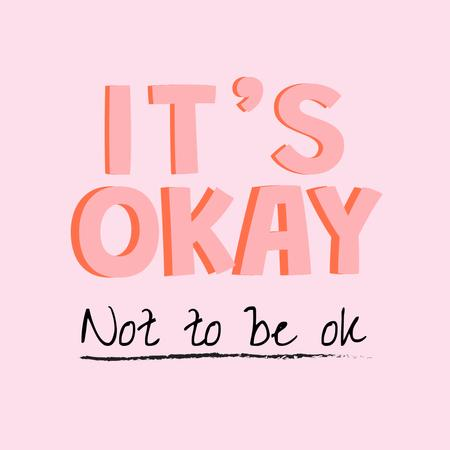 Ontwerpsjabloon van Instagram van Inspirational Phrase about Mental Health
