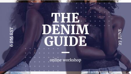 Women wearing Denim clothes FB event cover – шаблон для дизайна