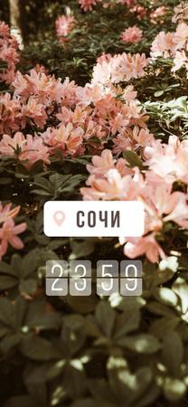 Beautiful blooming Flowers Snapchat Geofilter – шаблон для дизайна