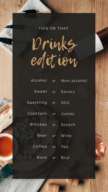 Ontwerpsjabloon van Instagram Story van Drinks choice for this or that Game