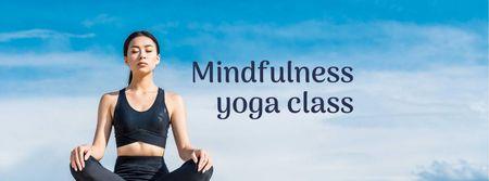 Ontwerpsjabloon van Facebook cover van Mindfulness Yoga Class Ad
