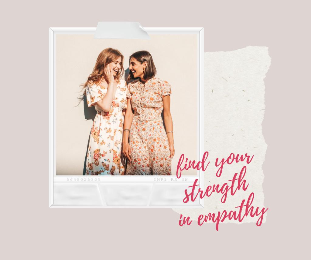 Plantilla de diseño de Girl Power Inspiration with Cute Girls Facebook