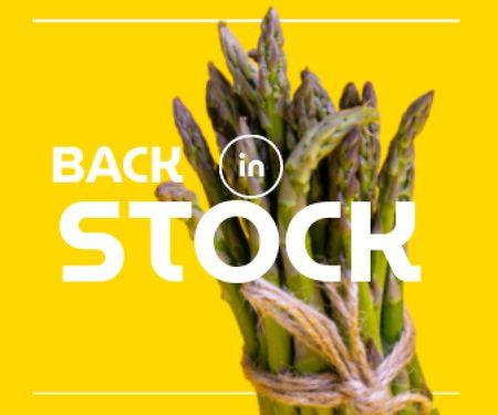Designvorlage Veggie Store Offer with Fresh Asparagus für Large Rectangle