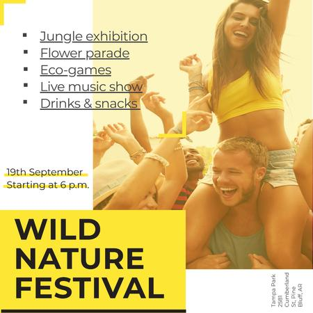 Plantilla de diseño de Wild nature festival with Happy Crowd Instagram