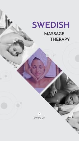 Woman at Swedish Massage Therapy Instagram Story – шаблон для дизайна