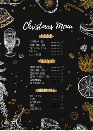 Christmas dishes course Menu – шаблон для дизайну