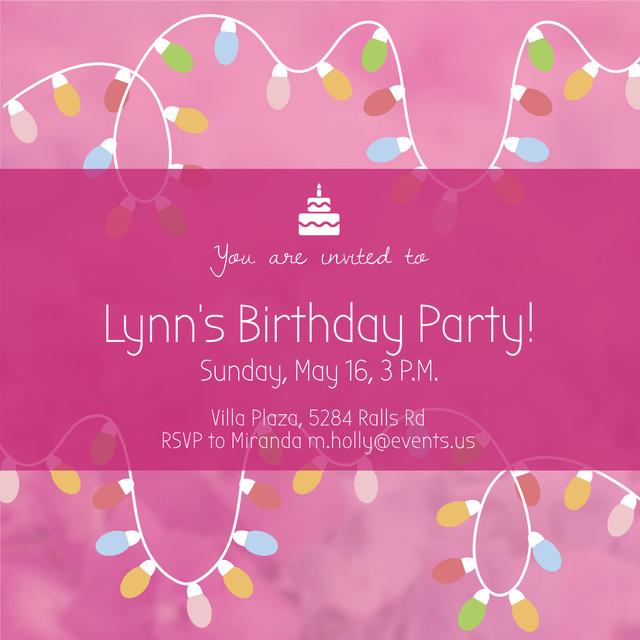 Birthday party invitation  Instagram – шаблон для дизайну