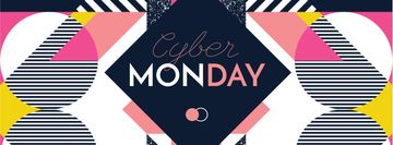 Cyber Monday sale on geometric pattern