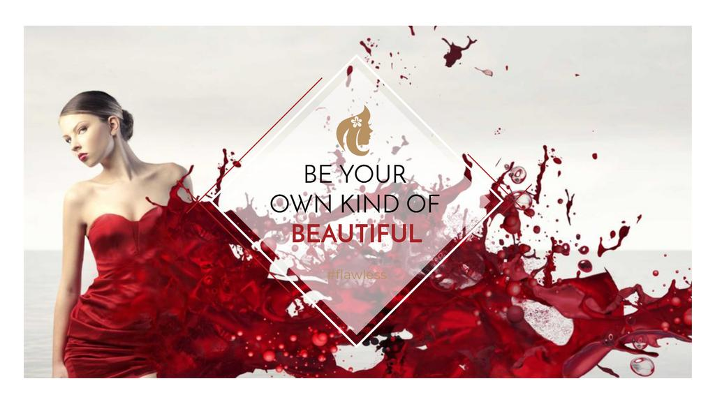 Beauty quote with Young attractive Woman — Crear un diseño