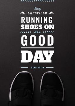 Sports Inspiration Quote with Pair of Athletic Shoes