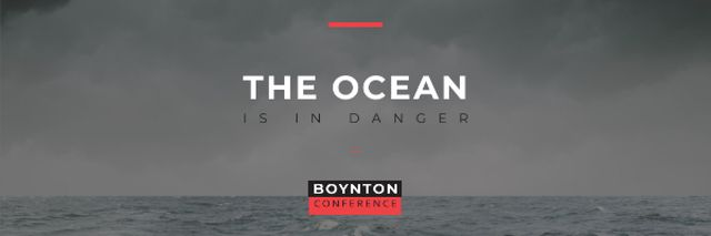 Boynton conference the ocean is in danger Email headerデザインテンプレート