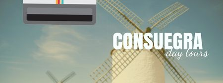 Consuegra Windmill Travelling Spots Facebook Video cover Design Template