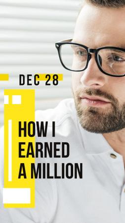 Book Presentation Announcement with Confident Businessman Instagram Story – шаблон для дизайна