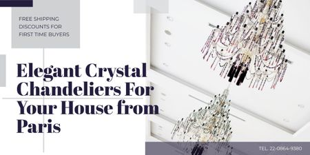 Elegant crystal chandeliers from Paris Image – шаблон для дизайну
