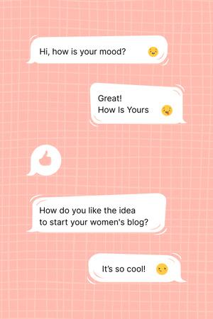 Designvorlage Girl Power Inspiration with Online Chatting für Pinterest