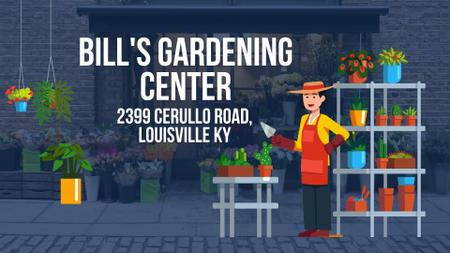 Plantilla de diseño de Florist Studio Ad with Gardener Working Full HD video