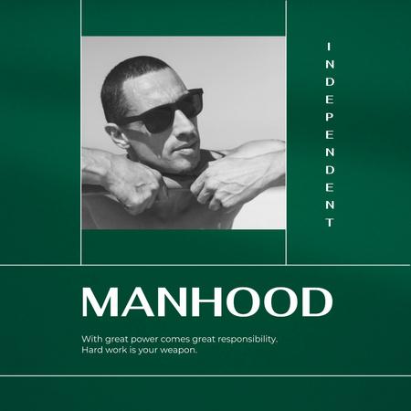 Manhood Inspiration with Confident Man Instagram Modelo de Design
