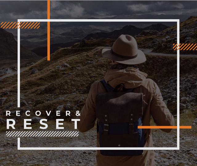 Mountains Hiking Tour Traveler Enjoying View Facebook – шаблон для дизайна