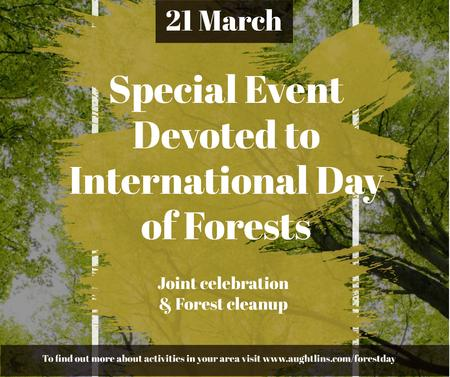 Plantilla de diseño de International Day of Forests Event Tall Trees Facebook