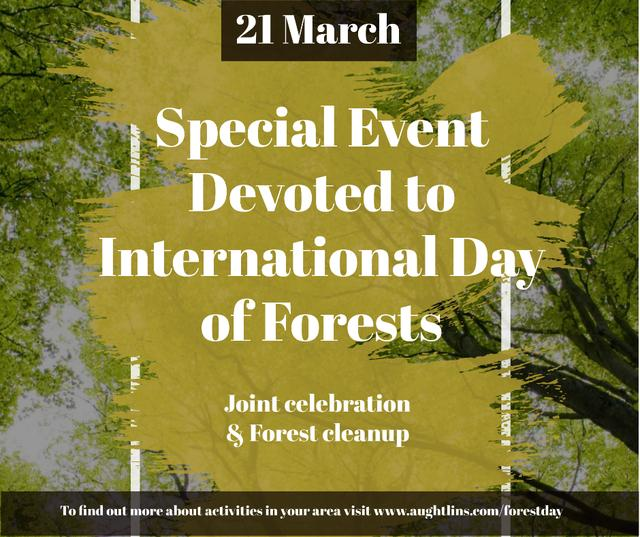 International Day of Forests Event Tall Trees Facebook Modelo de Design
