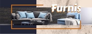 Furniture Offer with Stylish Grey Sofa