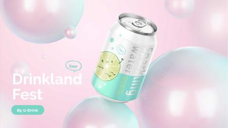 Ontwerpsjabloon van FB event cover van Can with Sparkling Drink