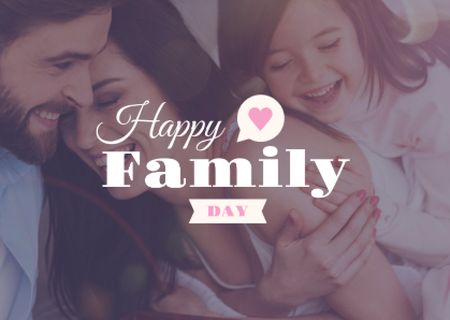 Modèle de visuel Happy Family Day Greeting - Card