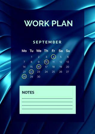 Work Monthly Planning Schedule Planner – шаблон для дизайна