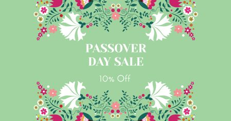 Passover Day Sale with Flowers Facebook AD – шаблон для дизайну