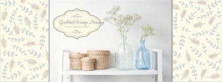 Plantilla de diseño de Home Decor Advertisement with Vases and Baskets Facebook cover