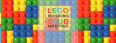 Lego Building Club Meeting Facebook coverデザインテンプレート