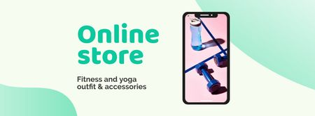 Fitness and Yoga accessories Offer Facebook cover Modelo de Design