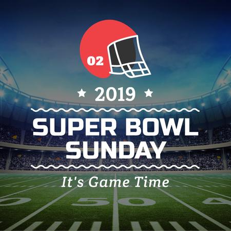 Ontwerpsjabloon van Instagram van Super bowl Announcement