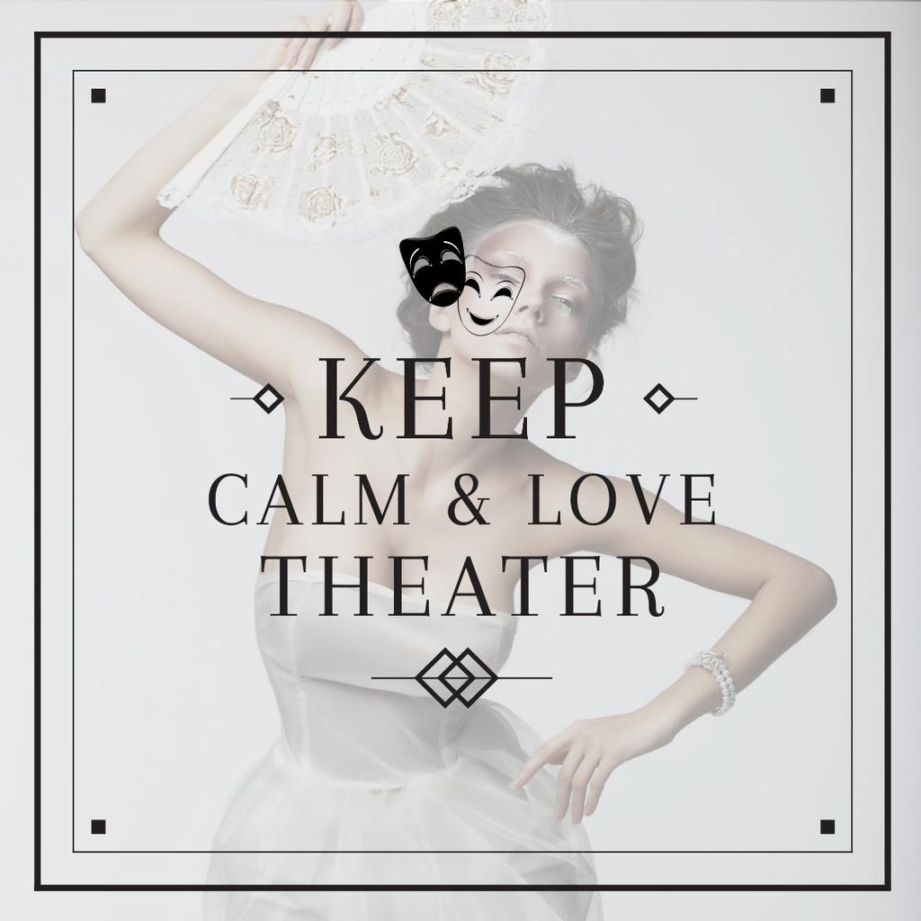 Citation about love to theater — Crear un diseño