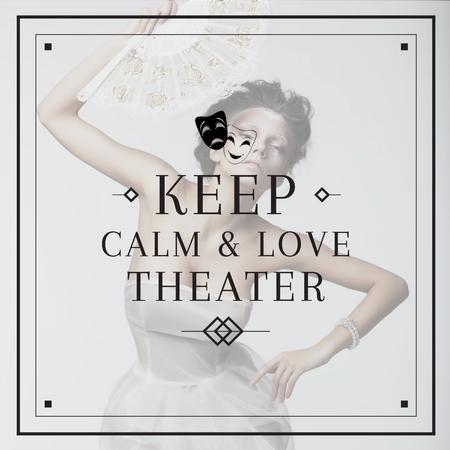 Ontwerpsjabloon van Instagram van Citation about love to theater