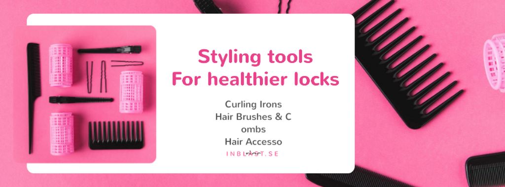 Hairdressing Tools Sale in Pink — Створити дизайн