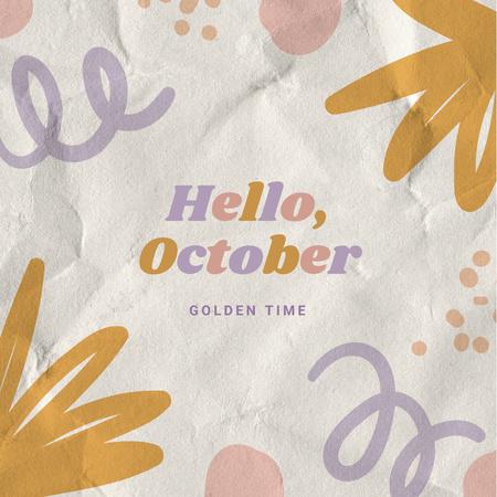 Autumn Inspiration with Bright Pattern Instagram – шаблон для дизайну