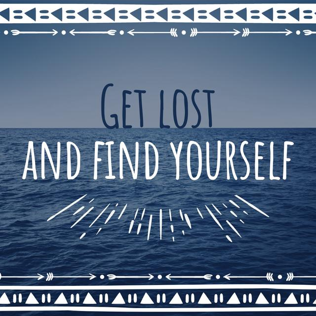 Motivational quote with Ocean Landscape Instagram – шаблон для дизайну