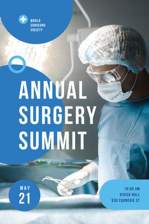 Annual Surgery Summit Announcement Pinterest Design Template