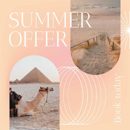 Music Album Promotion with Camel on Beach Instagram – шаблон для дизайну