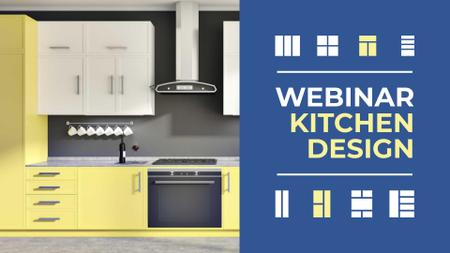 Kitchen design Webinar with Modern Home Interior FB event cover – шаблон для дизайну
